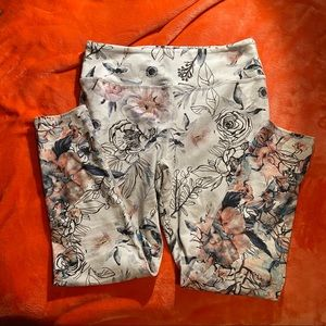 Evolution and Creation Floral Leggings